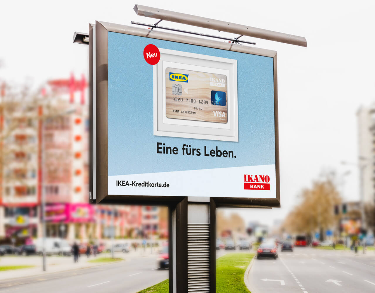 IKEA Kreditkarte Kampagne OOH Plakat IKEA Kreditkarte Kampagne OOH Bus