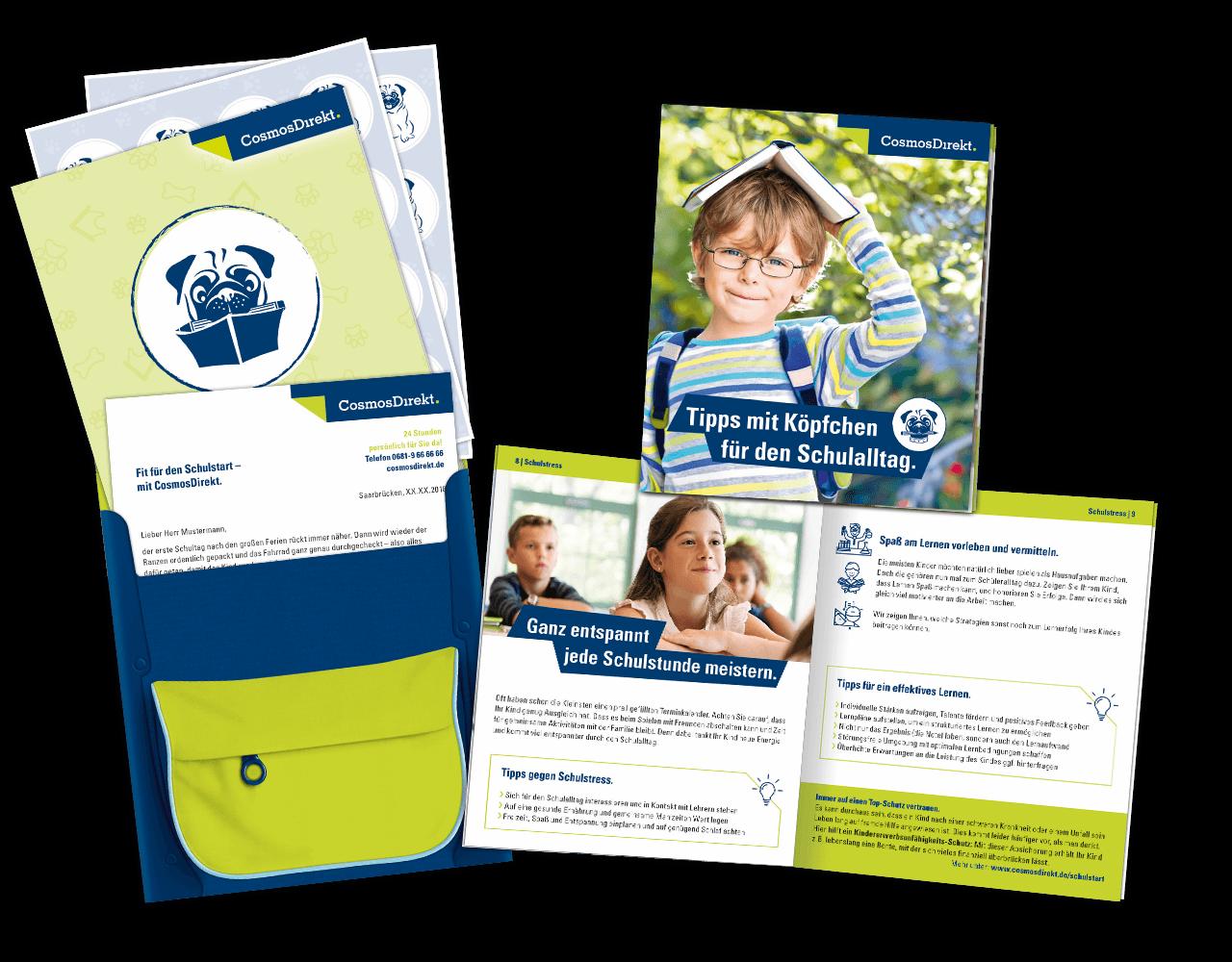 Mailing CosmosDirekt Broschuere Schulstartratgeber