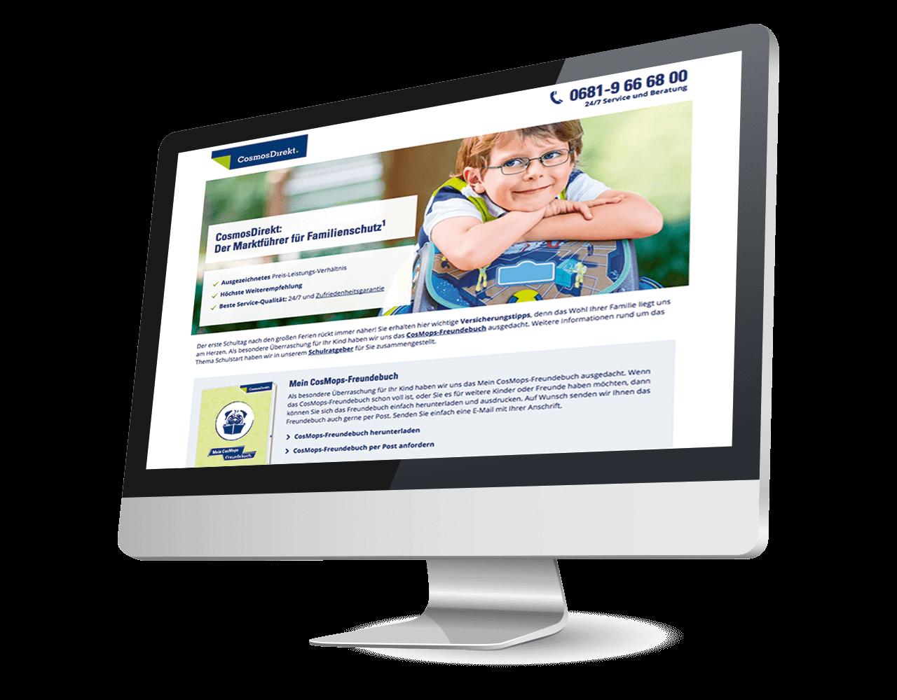 Mailing CosmosDirekt Schulstartratgeber Online