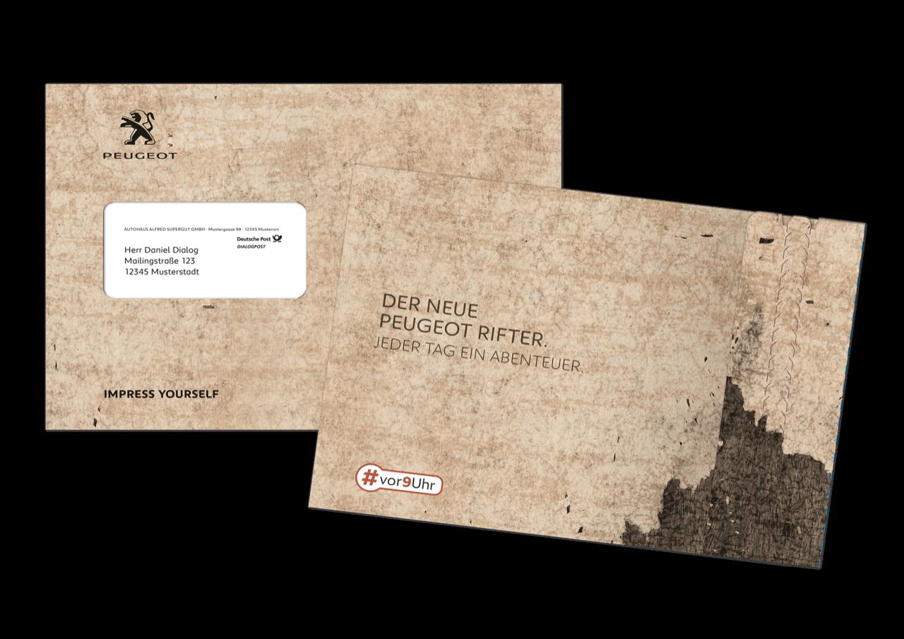 Mailing PEUGEOT RIFTER Versandhuelle
