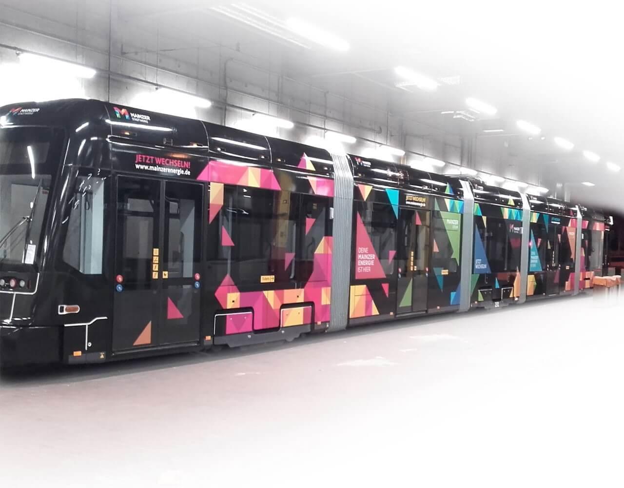 Verkehrsmittelwerbung Mainzer Stadtwerke